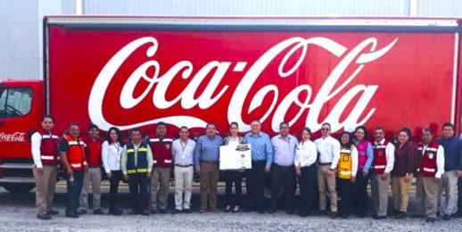 Coca-Cola FEMSA es reconocida por su calidad ambiental en Tabasco, México.