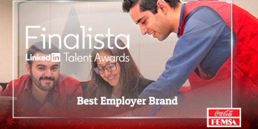 Coca-Cola FEMSA como #BestEmployerBrand en los #TalentAwards 2019.