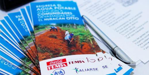 Fundación FEMSA y Coca-Cola FEMSA inician la reconstrucción de acueductos de Costa Rica, tras el paso del huracán Otto.