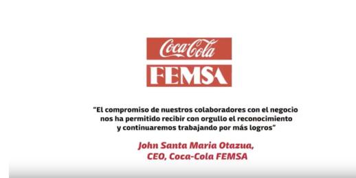 Coca-Cola FEMSA en el Índice Dow Jones de Sostenibilidad en Mercados Emergentes.