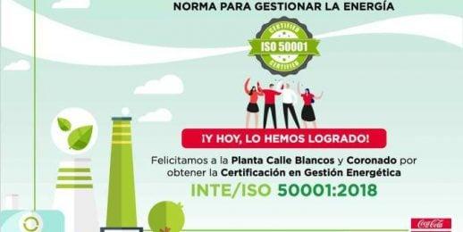 Coca-Cola FEMSA Costa Rica obtiene certificación que garantiza el uso energías limpias en sus operaciones.
