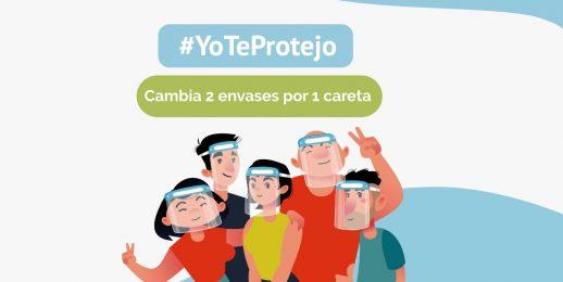 #YoTeProtejo y Coca-Cola FEMSA Colombia intercambian caretas por reciclaje.
