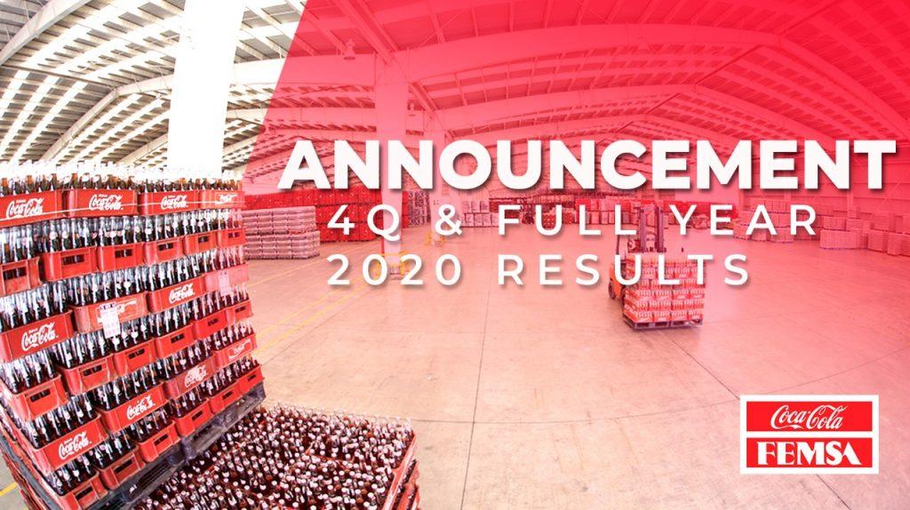 Coca-Cola FEMSA Announces Fourth Quarter and Full Year 2020 Results