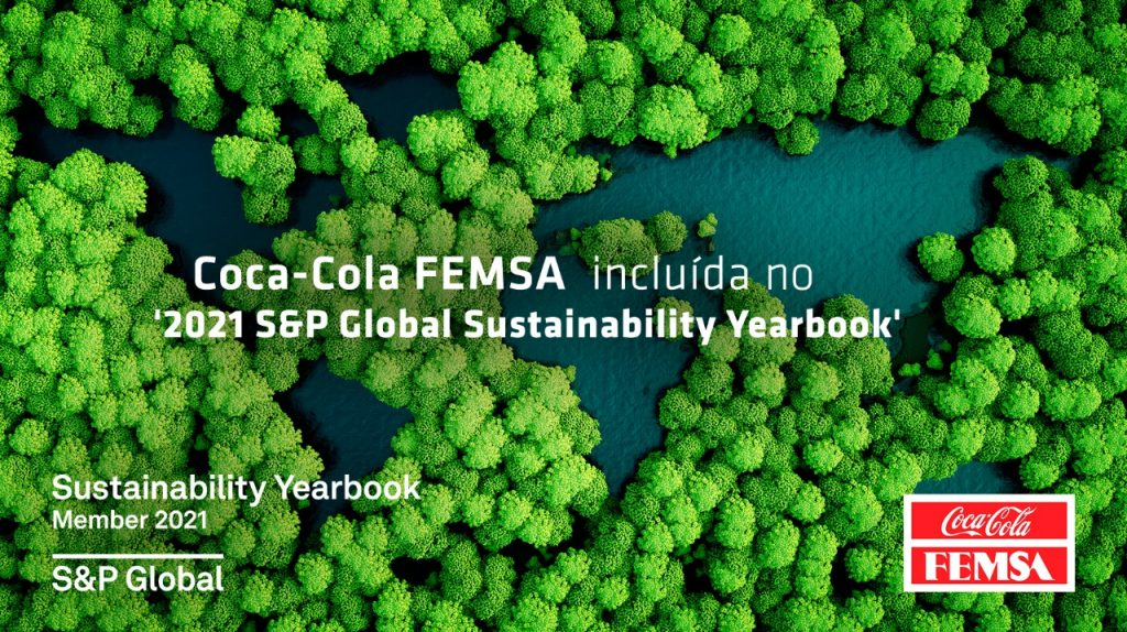 "Coca-Cola FEMSA é membro do ""S&P GLOBAL 2021 The Sustainaiblity Yearbook 2021"""