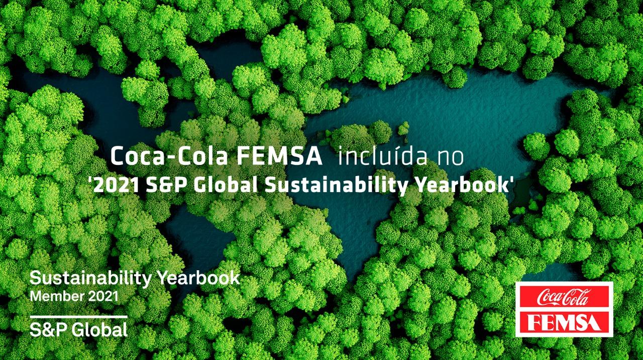 "Coca-Cola FEMSA é membro do ""S&P GLOBAL 2021 The Sustainaiblity Yearbook 2021"""