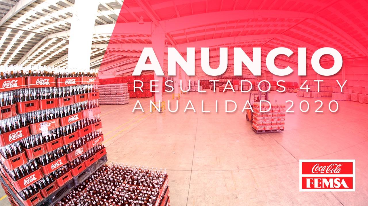 Coca-Cola FEMSA Anuncia Resultados del Cuarto Trimestre y Anualidad 2020