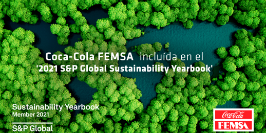 "Coca-Cola FEMSA forma parte de ""S&P Global 2021 Sustainability Yearbook"""
