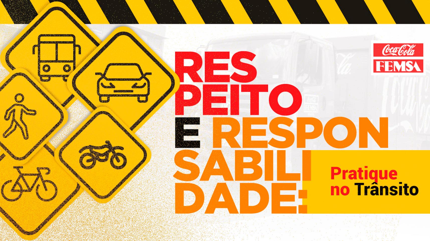 A Coca-Cola Femsa Brasil promove a segurança viária e adere ao programa Empresa Laço Amarelo.