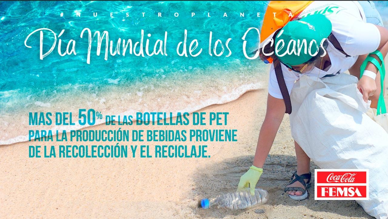 Día Mundial de los Océanos con la gestión adecuada del PET.