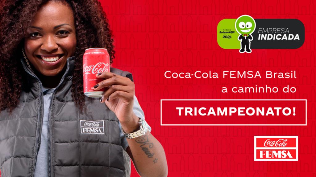 Coca-Cola FEMSA indicada no Premio Reclame aqui 2021.