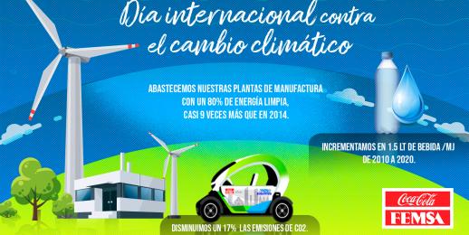 Coca-Cola FEMSA, acciona con firmeza frente al cambio climático.