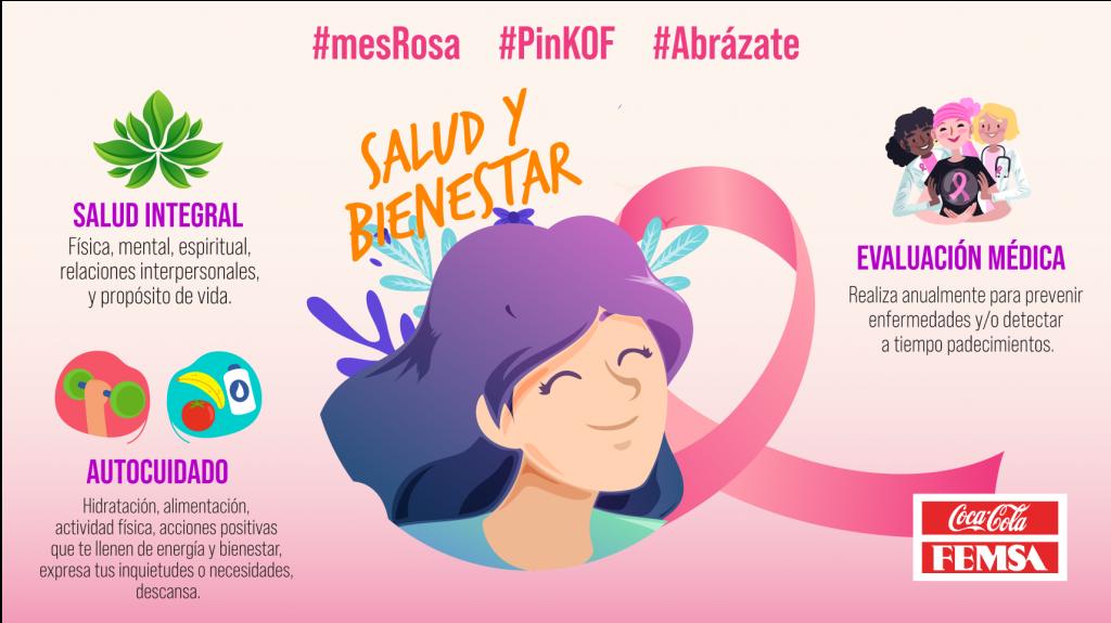 Octubre Rosa, bienestar integral para la vida en Coca-Cola FEMSA.